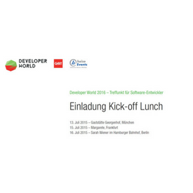 Einladung Kickoff Developerworld