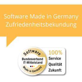 Zufriedenheitsbekundung Software Made in Germany