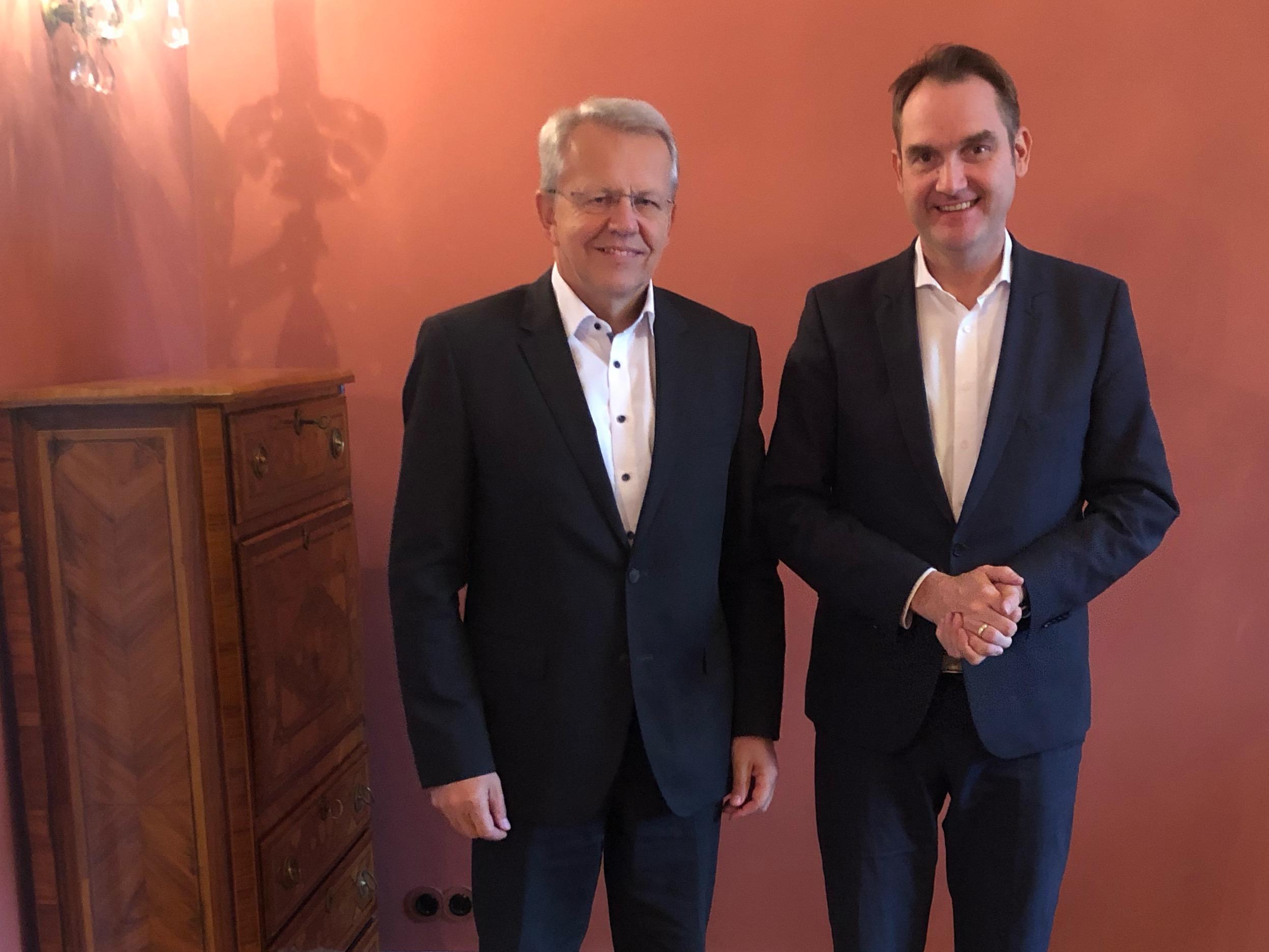 Stephan Hauber, Vorstandsvorsitzender des DATABUND und Dr. Oliver Grün, Präsident des Bundesverband IT-Mittelstand e.V. (BITMi)
